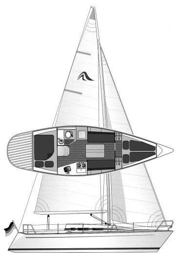 Builder's plan of the Hanse 301