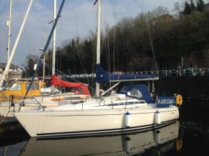 Karisma on 'A' pontoon, Penarth Marina