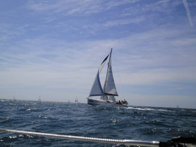Yachts passing to windward
