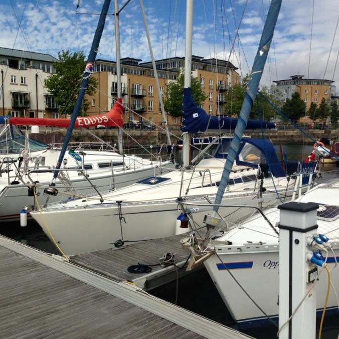 Sunshine (and Karisma) in Portishead, berth C7 for the night.